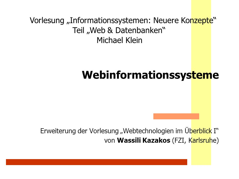 Webinformationssysteme