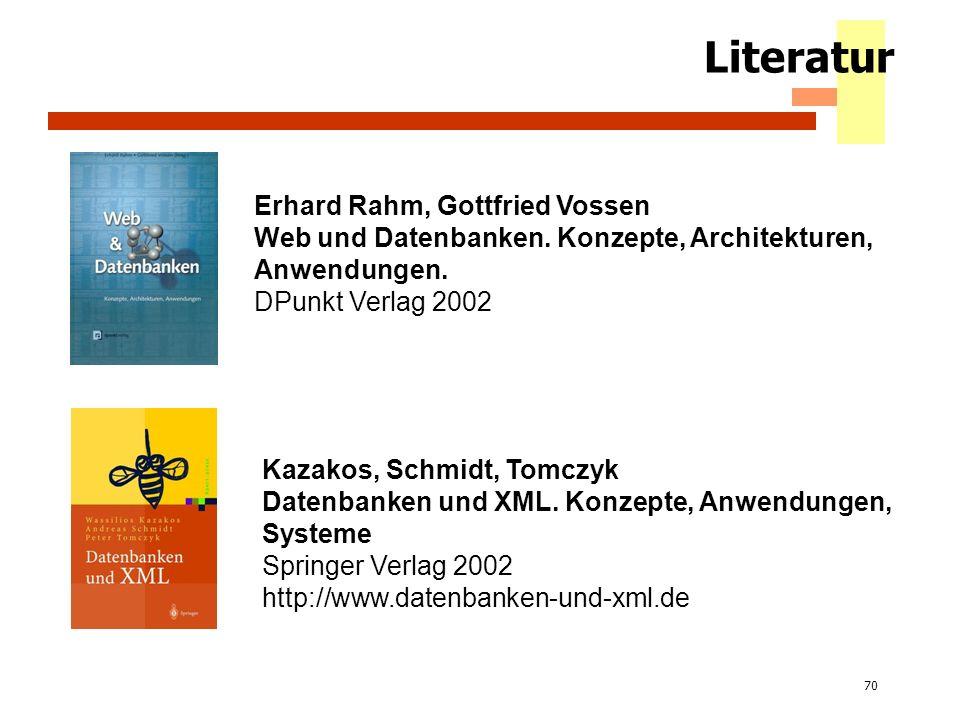 Literatur Erhard Rahm, Gottfried Vossen