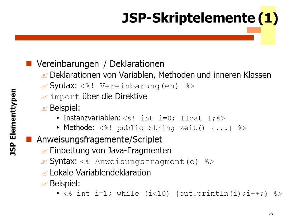 JSP-Skriptelemente (1)