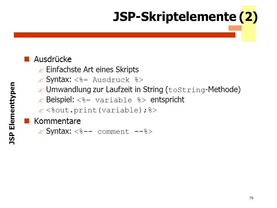 JSP-Skriptelemente (2)
