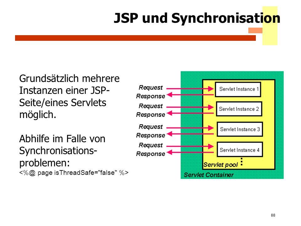 JSP und Synchronisation