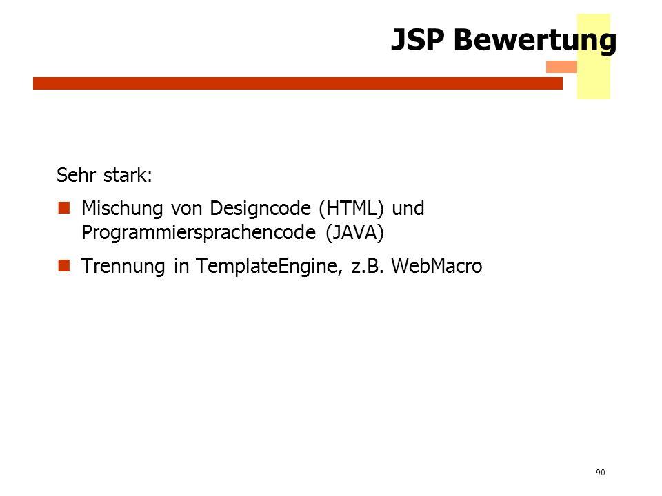 JSP Bewertung Sehr stark:
