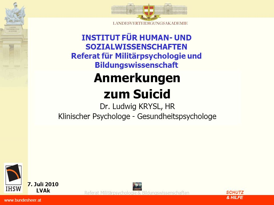 Klinischer Psychologe - Gesundheitspsychologe