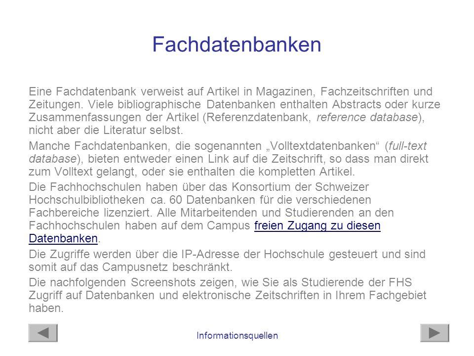 Fachdatenbanken