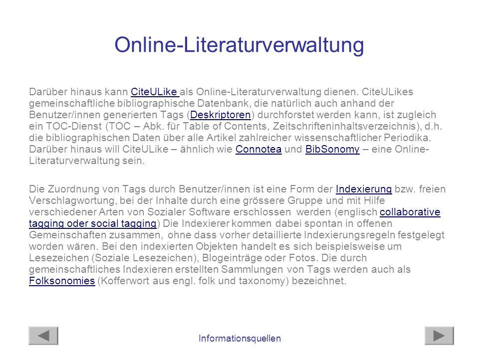 Online-Literaturverwaltung