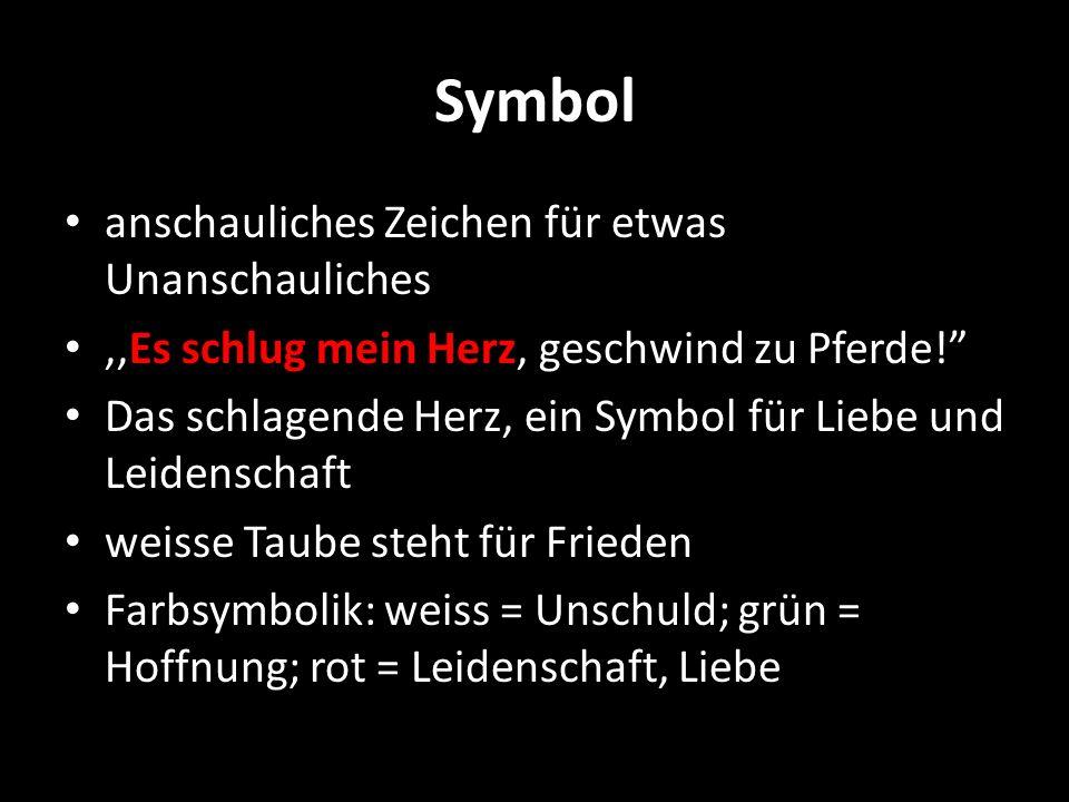 Symbol anschauliches Zeichen für etwas Unanschauliches