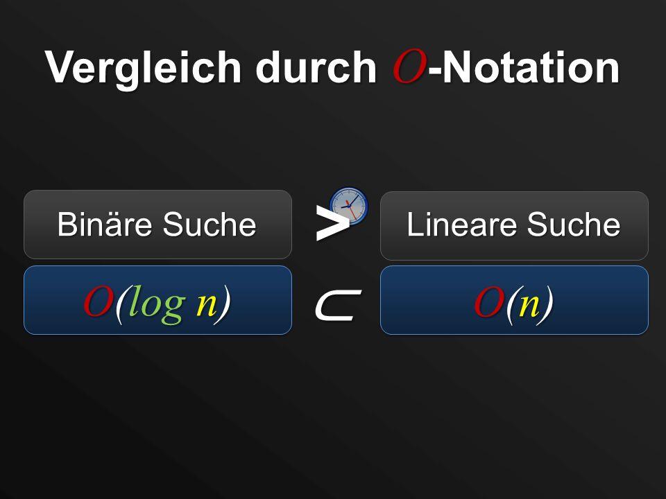 Vergleich durch O-Notation