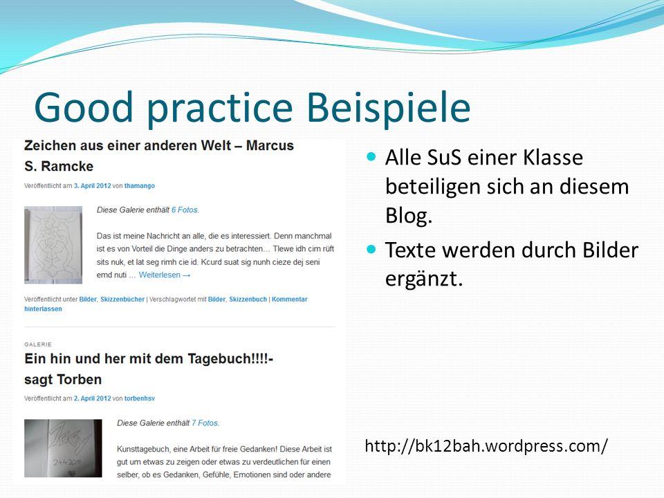 Good practice Beispiele