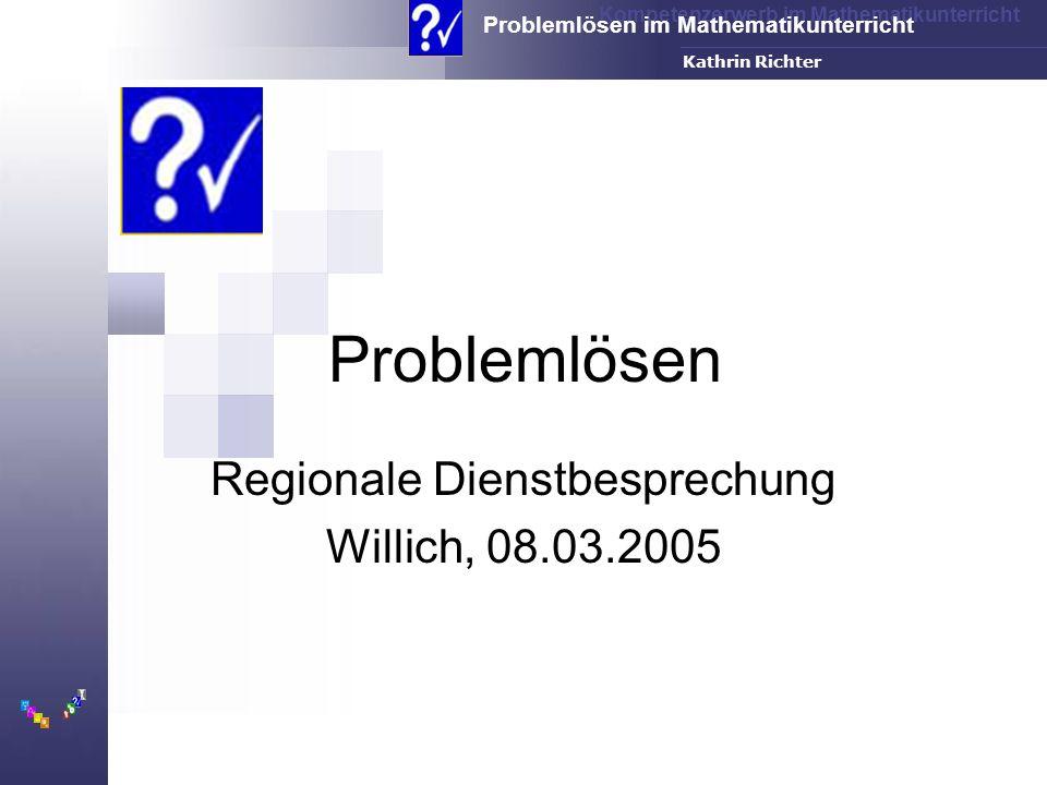 Regionale Dienstbesprechung Willich, 08.03.2005