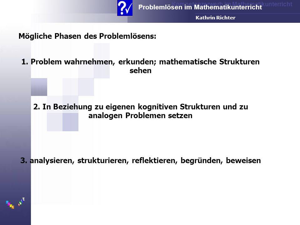 Mögliche Phasen des Problemlösens: