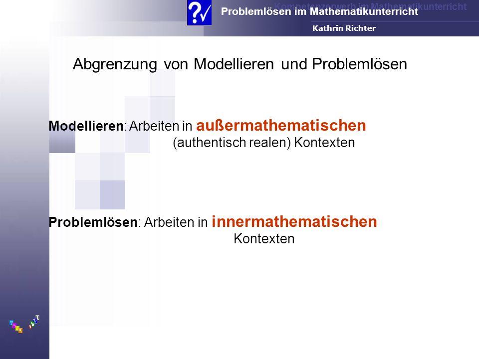 Abgrenzung von Modellieren und Problemlösen