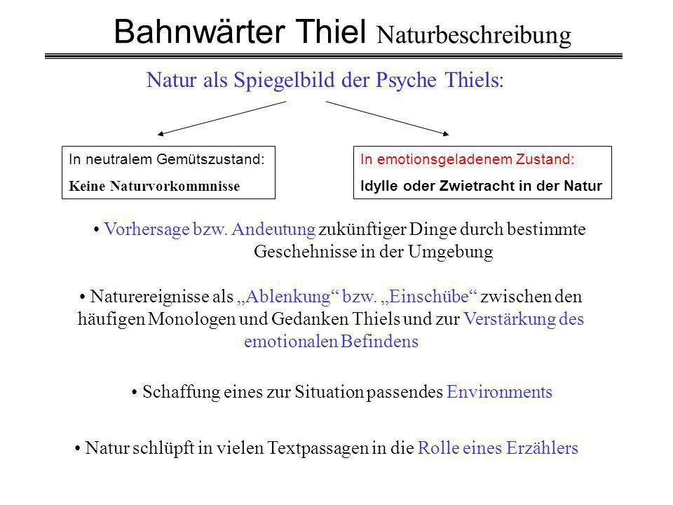 Bahnwärter Thiel Naturbeschreibung