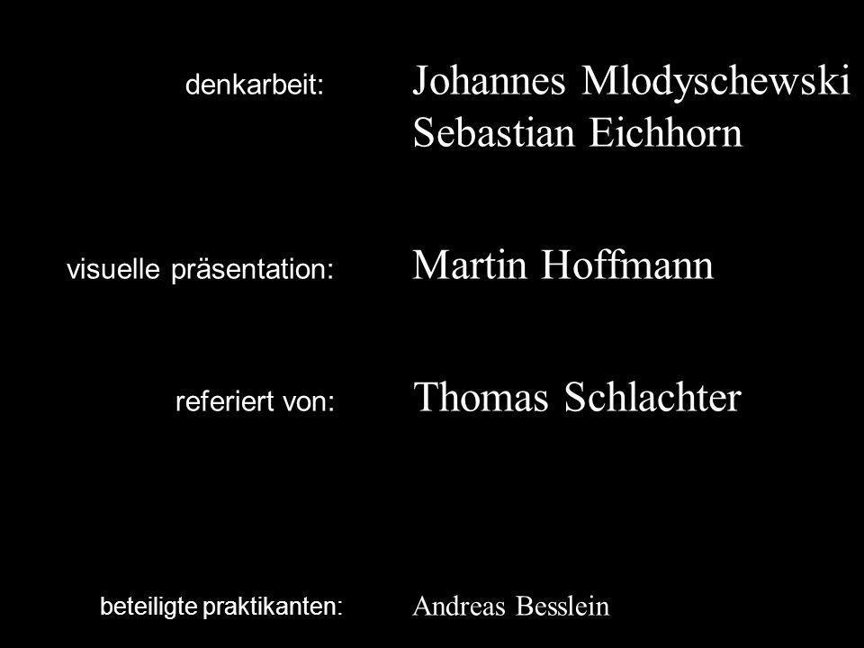 denkarbeit:. Johannes Mlodyschewski