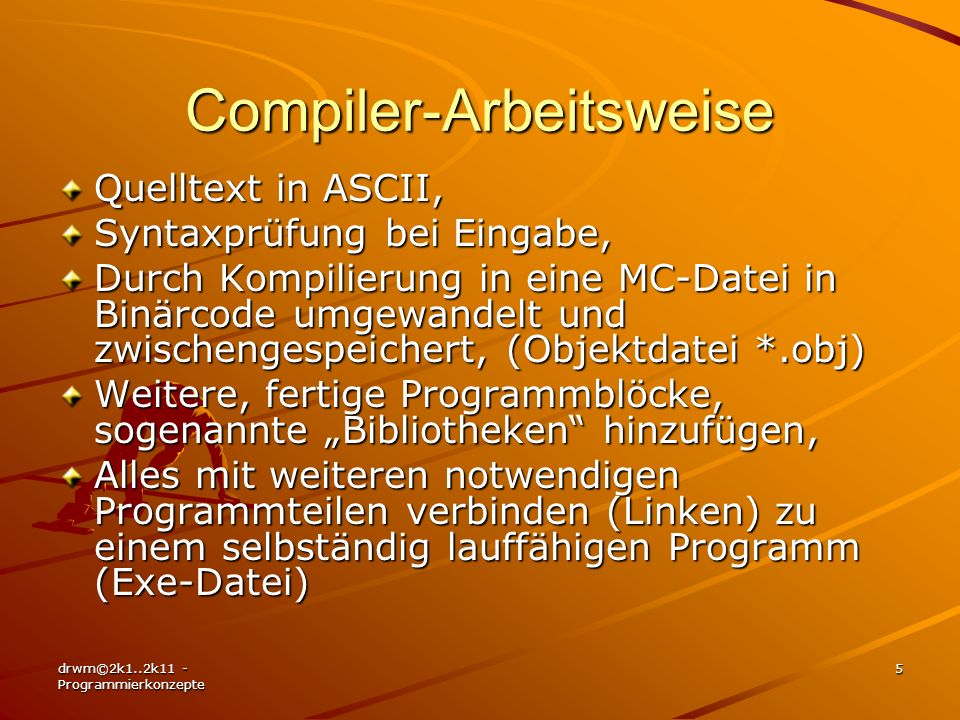 Compiler-Arbeitsweise