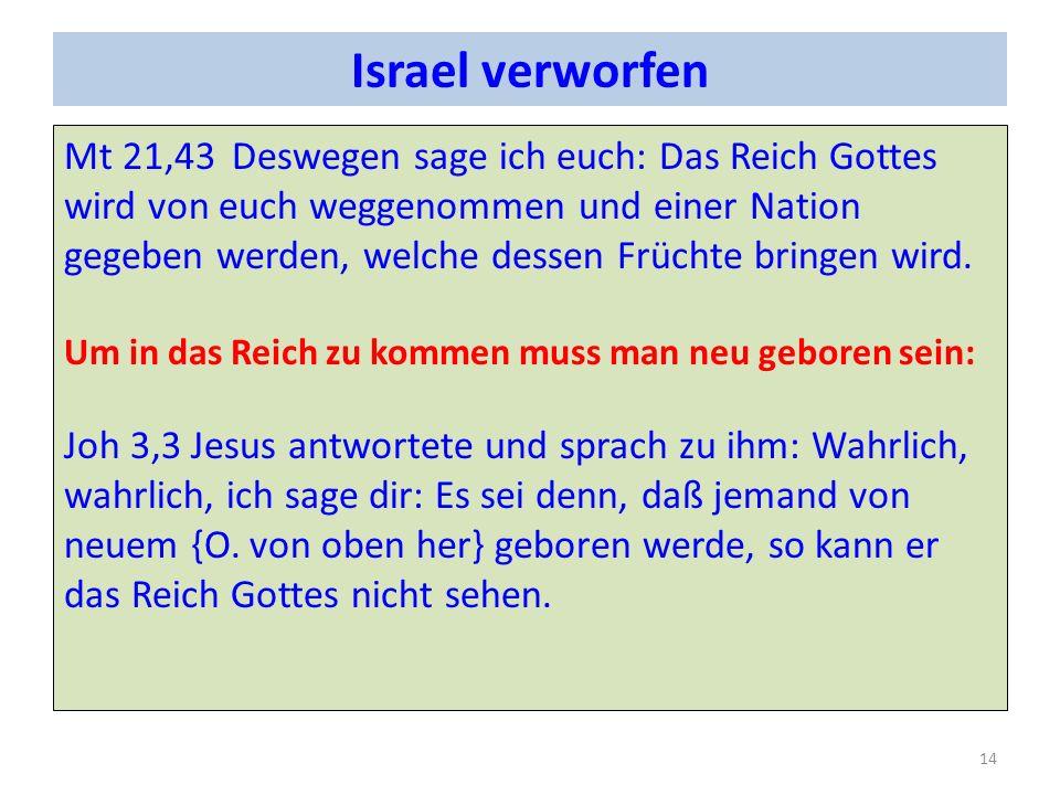 Israel verworfen