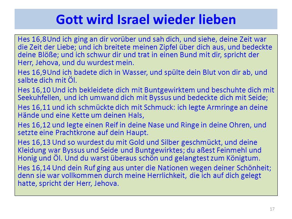Gott wird Israel wieder lieben