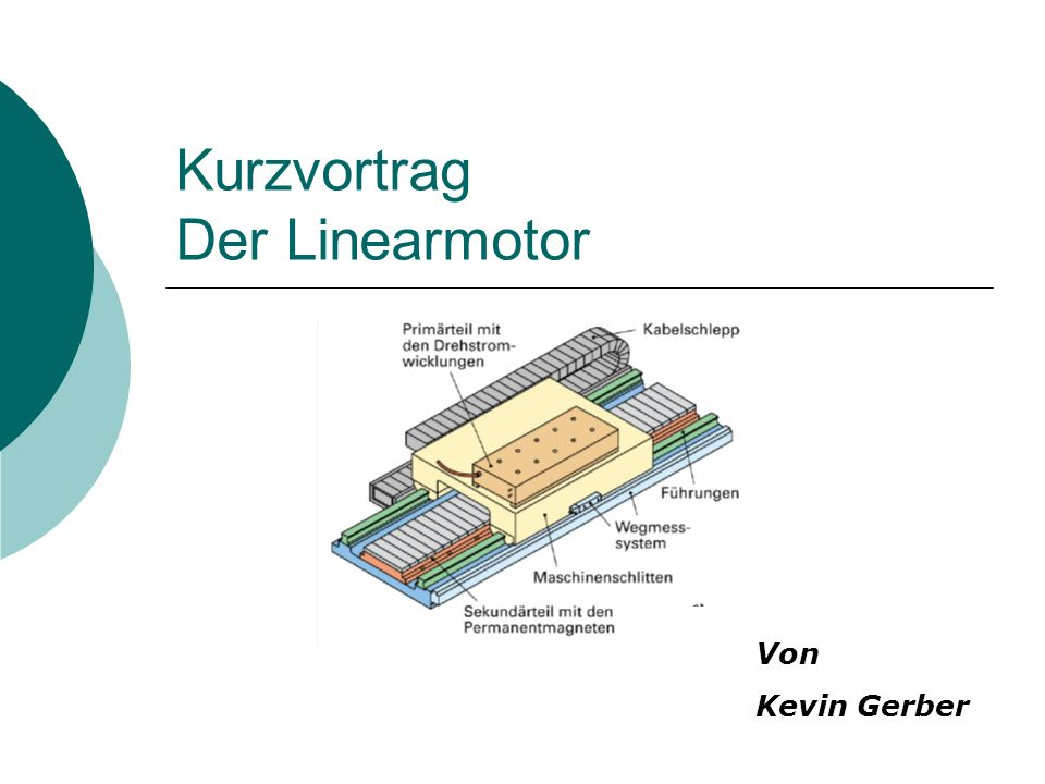 Kurzvortrag Der Linearmotor