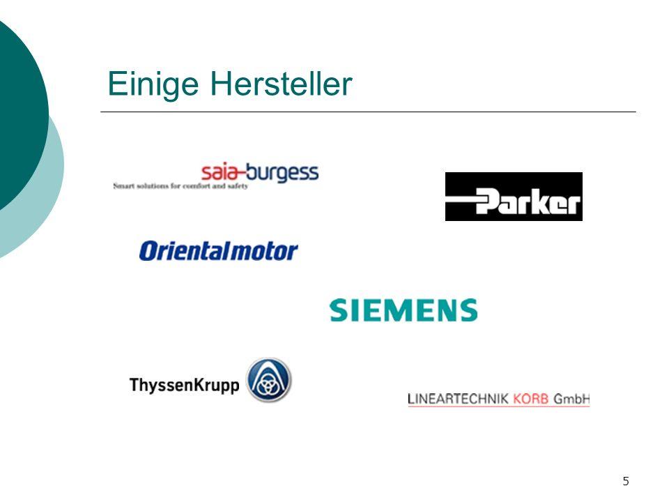 Einige Hersteller