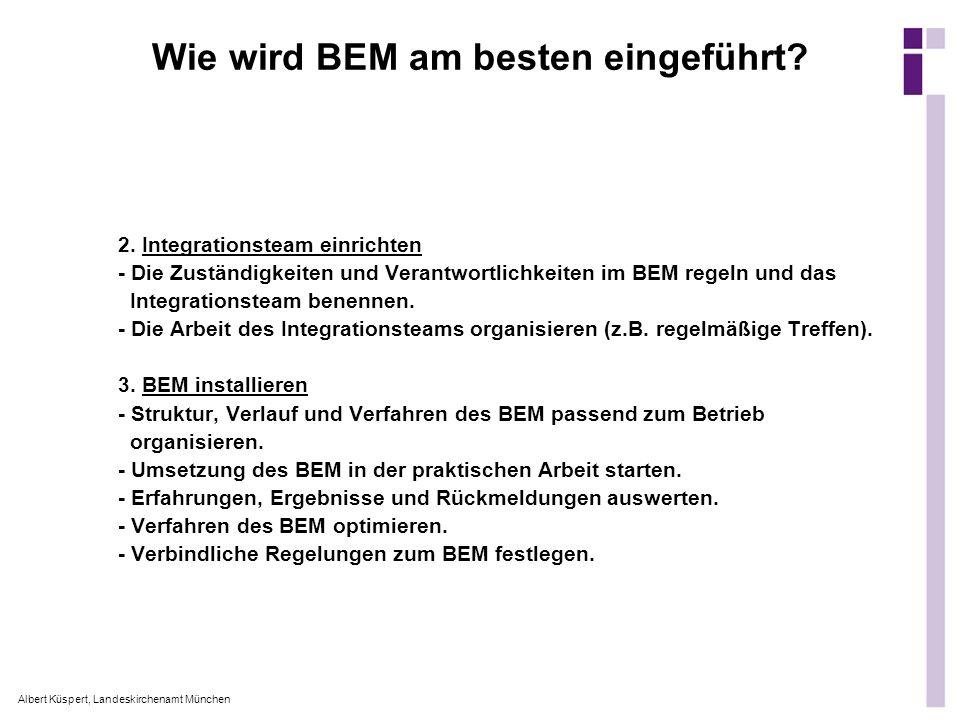 Wie wird BEM am besten eingeführt