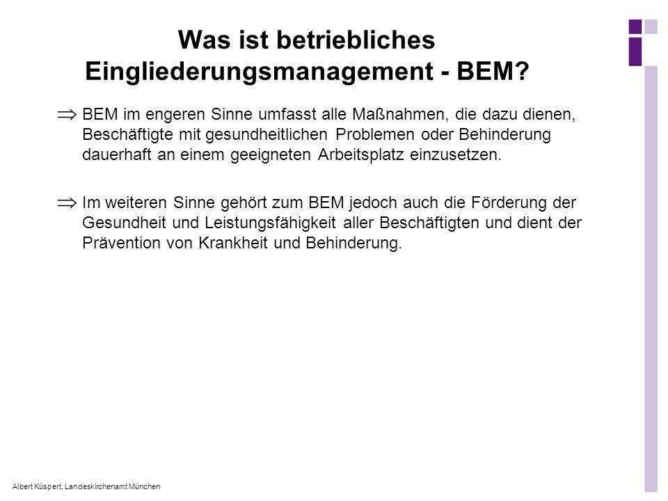 Was ist betriebliches Eingliederungsmanagement - BEM