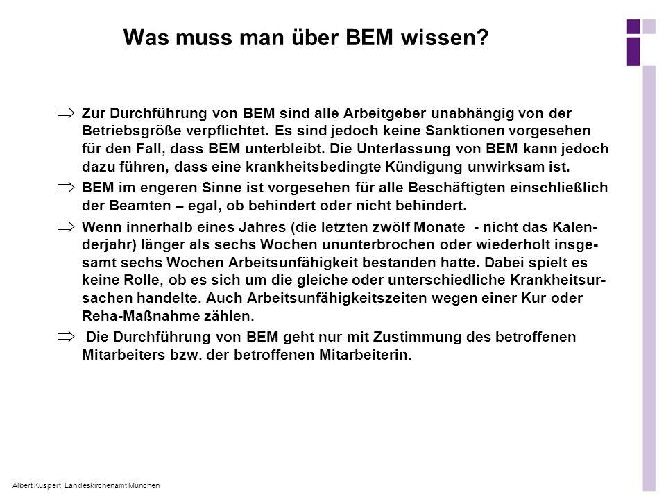 Was muss man über BEM wissen