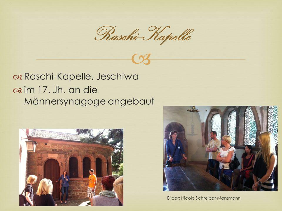 Raschi--Kapelle Raschi-Kapelle, Jeschiwa