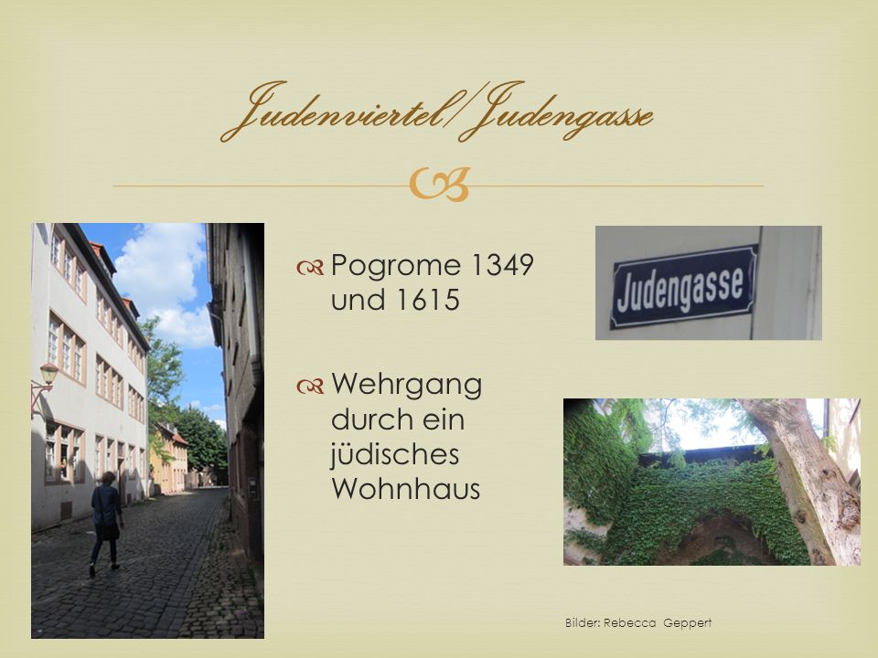 Judenviertel/Judengasse