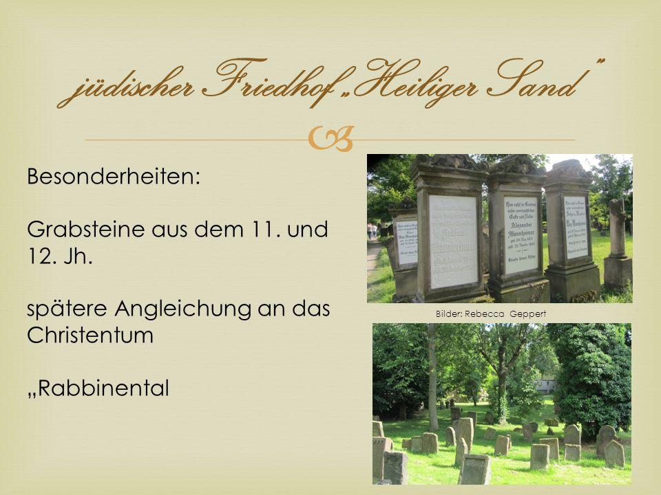 """jüdischer Friedhof """"Heiliger Sand"""