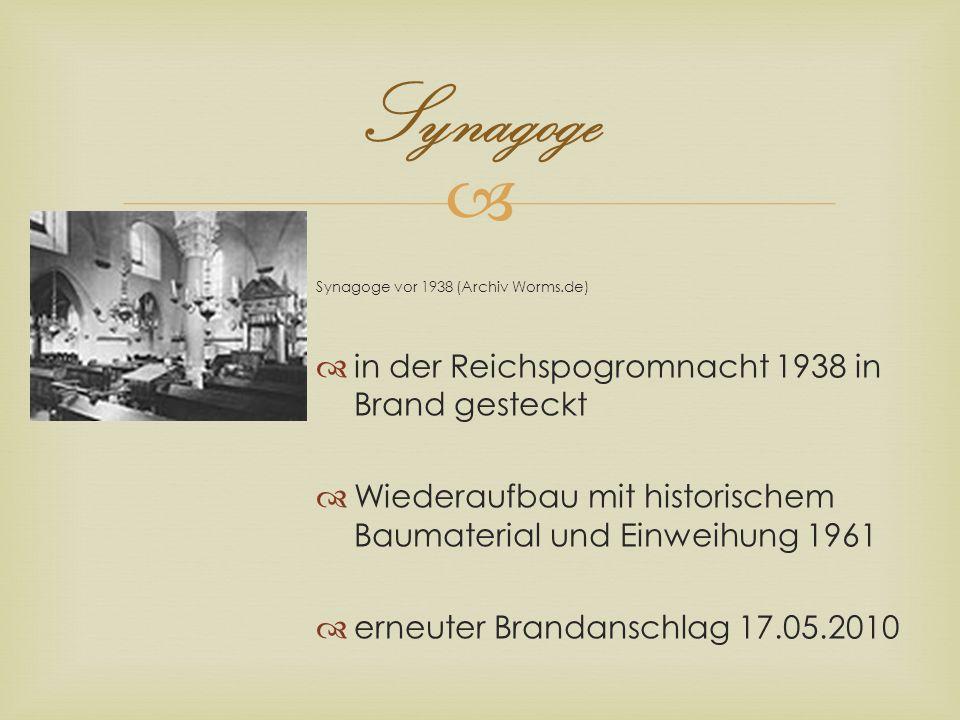 Synagoge in der Reichspogromnacht 1938 in Brand gesteckt
