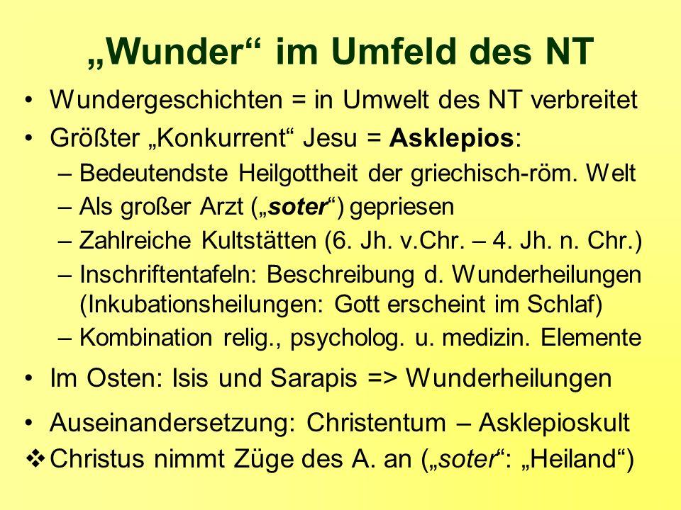 """""""Wunder im Umfeld des NT"""