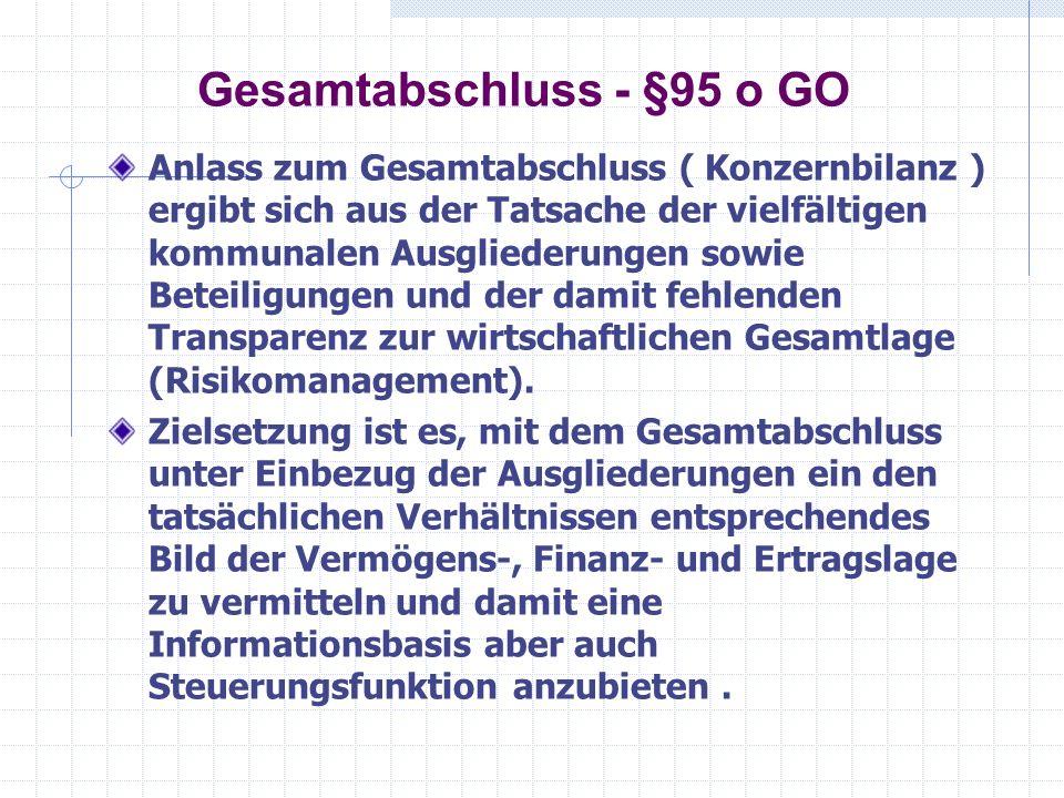 Gesamtabschluss - §95 o GO