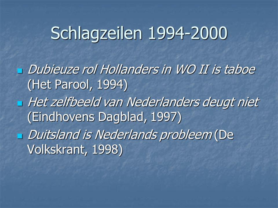 Schlagzeilen 1994-2000 Dubieuze rol Hollanders in WO II is taboe (Het Parool, 1994)