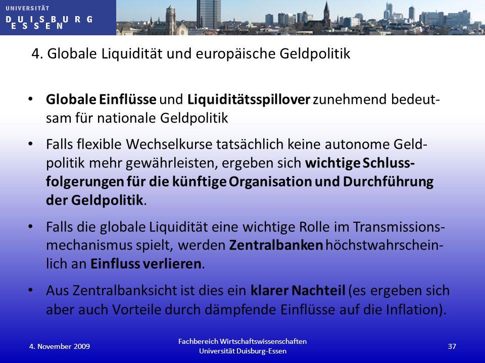 4. Globale Liquidität und europäische Geldpolitik