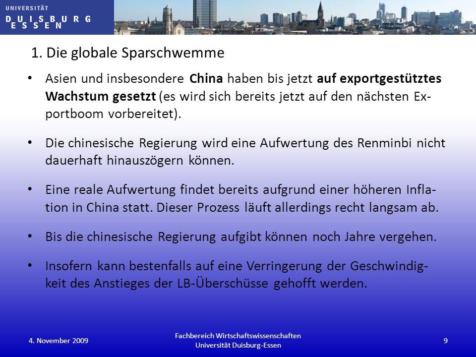 1. Die globale Sparschwemme