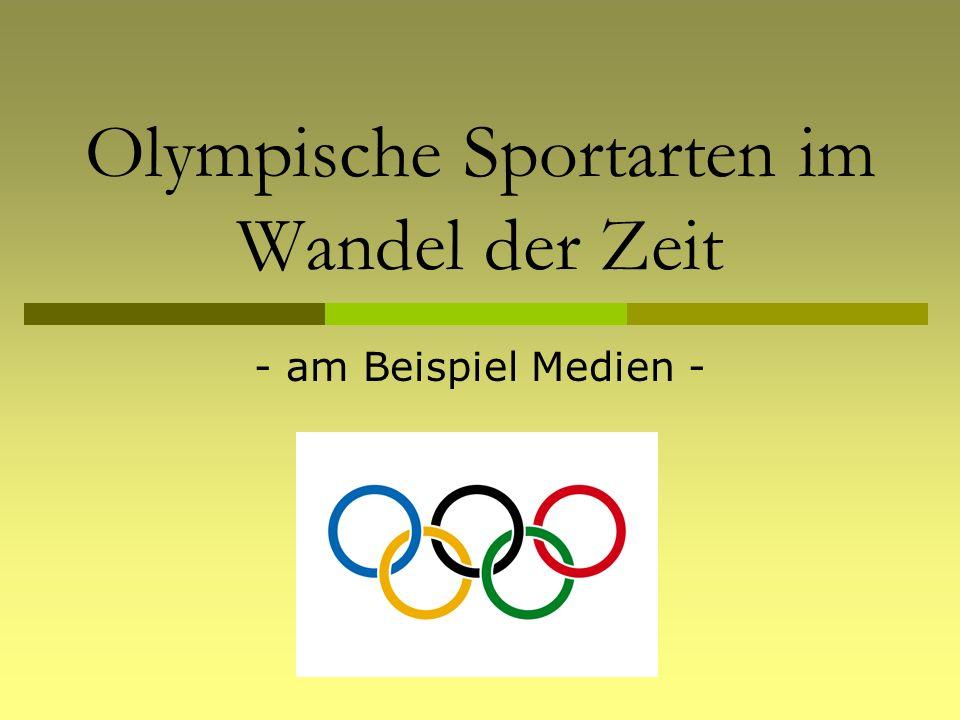 Olympische Sportarten im Wandel der Zeit