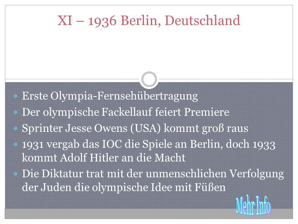 XI – 1936 Berlin, Deutschland