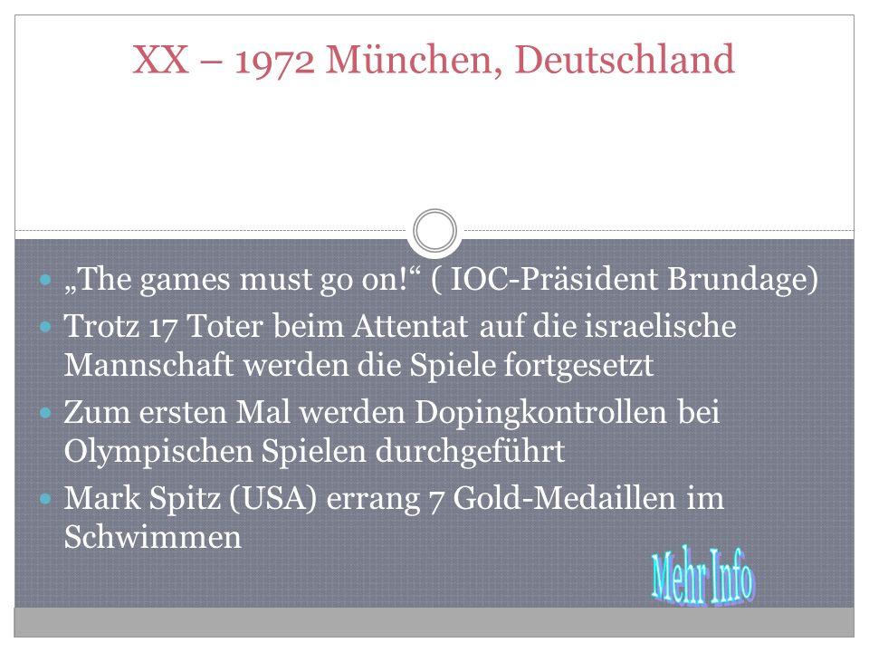 XX – 1972 München, Deutschland