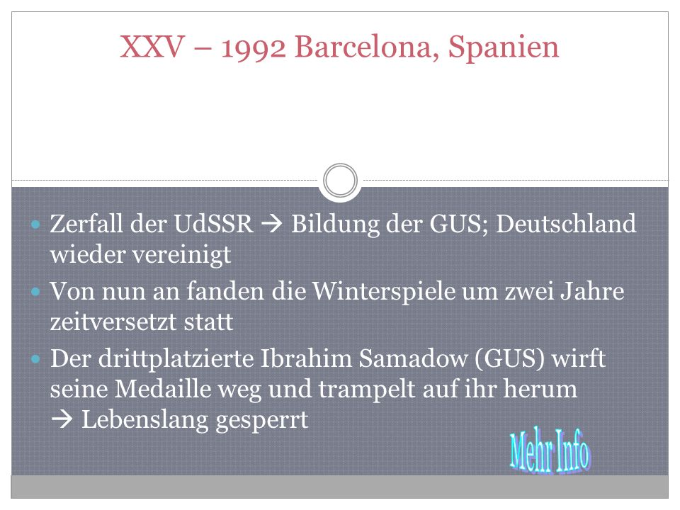 XXV – 1992 Barcelona, Spanien
