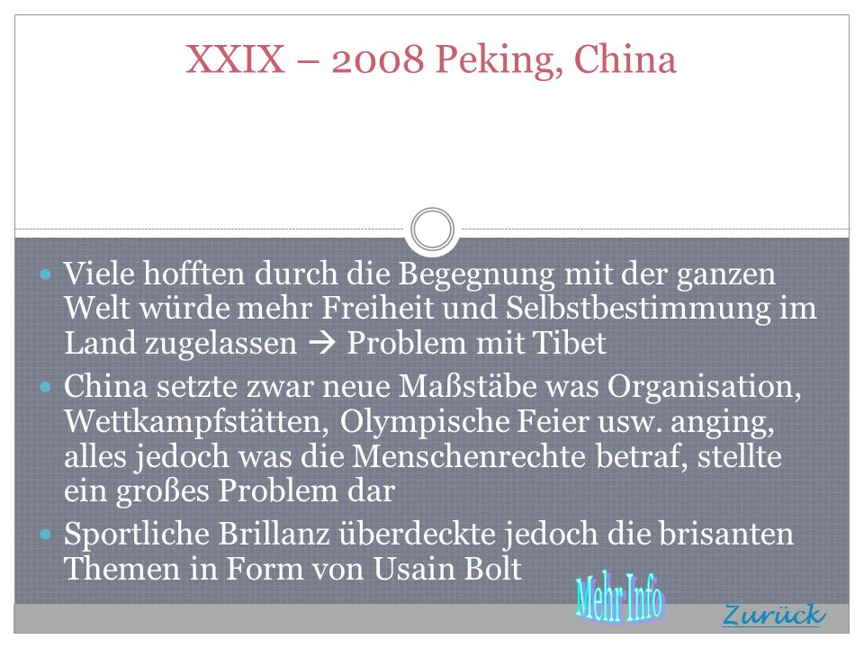 XXIX – 2008 Peking, China