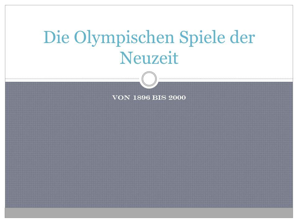 Die Olympischen Spiele der Neuzeit