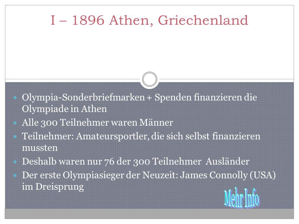 I – 1896 Athen, Griechenland Olympia-Sonderbriefmarken + Spenden finanzieren die Olympiade in Athen.