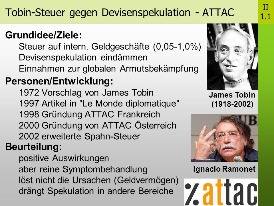 Tobin-Steuer gegen Devisenspekulation - ATTAC
