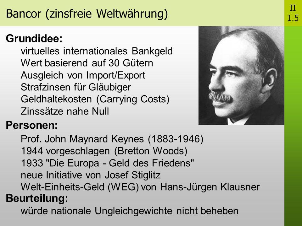 Bancor (zinsfreie Weltwährung)