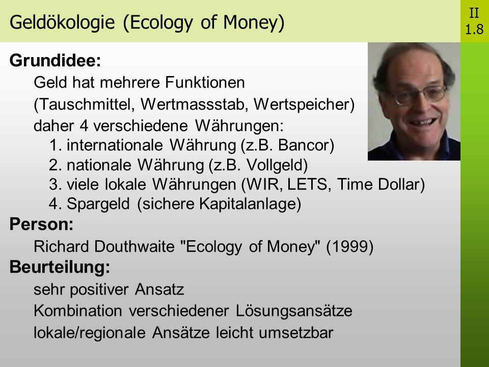 Geldökologie (Ecology of Money)