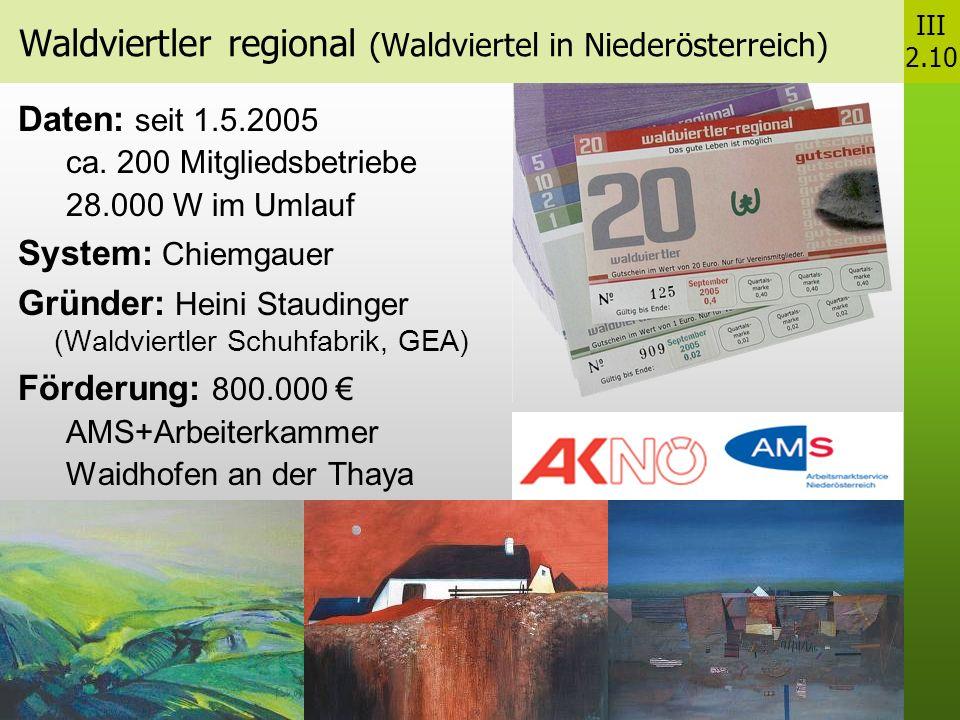 Waldviertler regional (Waldviertel in Niederösterreich)
