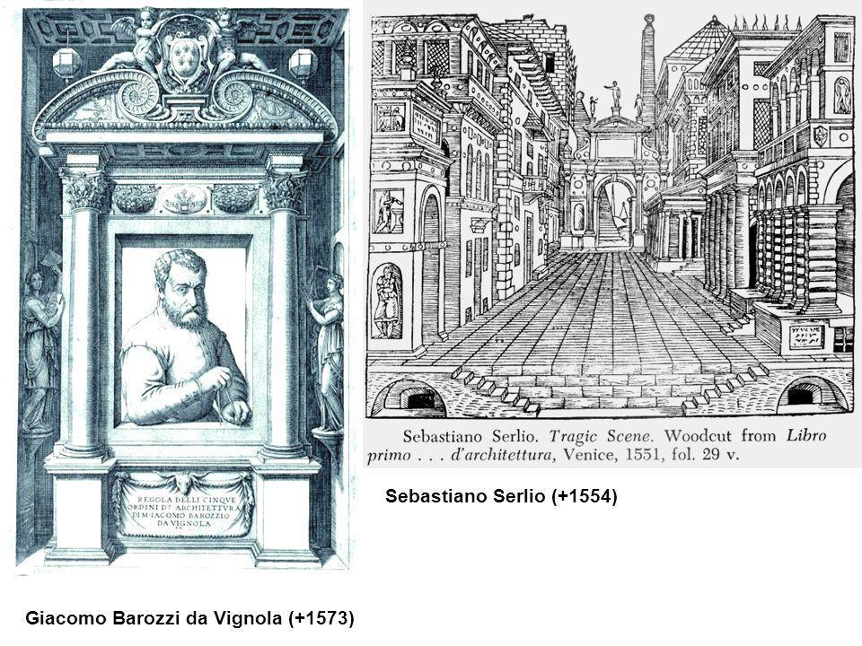 Sebastiano Serlio (+1554) Giacomo Barozzi da Vignola (+1573)
