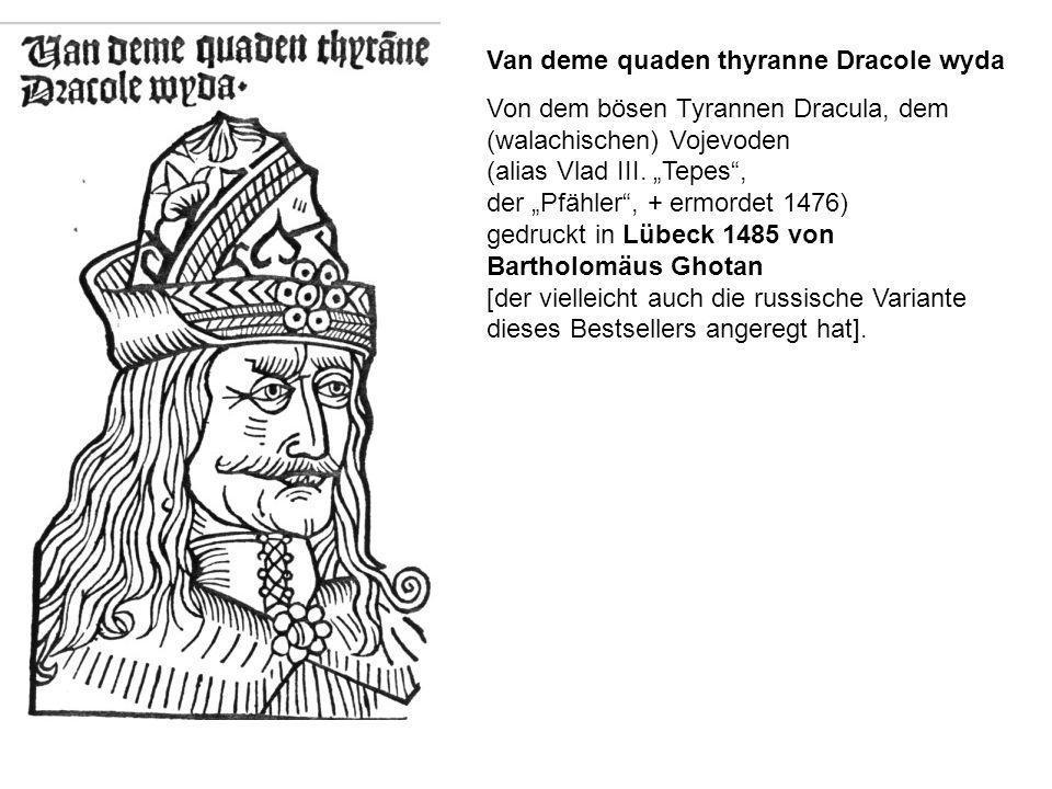 Van deme quaden thyranne Dracole wyda