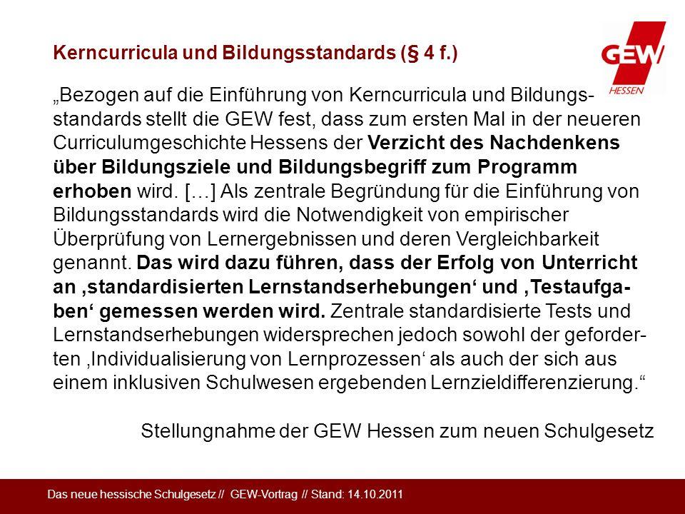 Stellungnahme der GEW Hessen zum neuen Schulgesetz