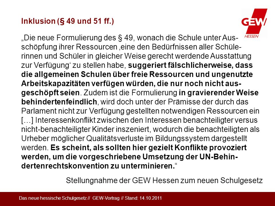 Inklusion (§ 49 und 51 ff.)