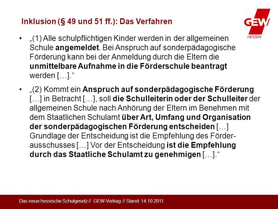 Inklusion (§ 49 und 51 ff.): Das Verfahren